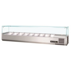 Blizzard TOP2000CR Glass Canopy 2.0m Counter Top Preparation Unit