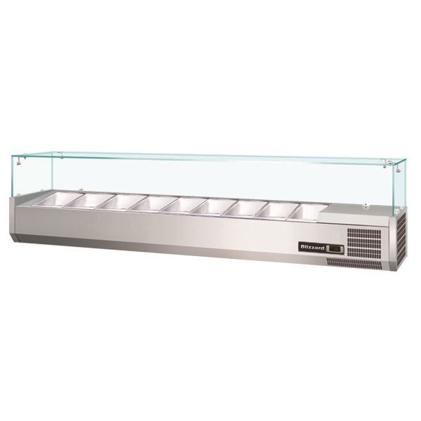 Blizzard Glass Canopy Counter Top Preparation Unit