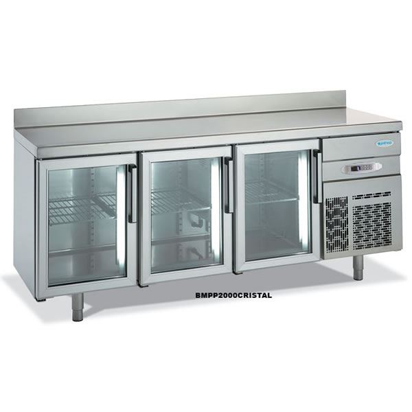 Infrico 600 BMPP 2000 CRISTAL Glass Door Counter Fridge