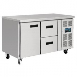 Polar GD873 228 Litre 1 Door & 2 Drawers Refrigerated Counter