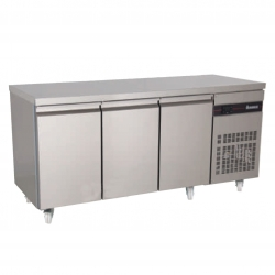 INOMAK SL999 Triple Door Slim Fridge Counter