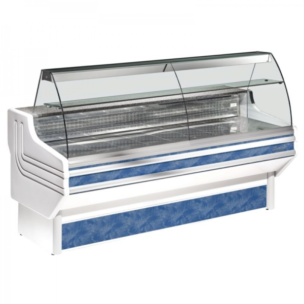 Zoin Jinny 1.5m Curved Glass Serve Over Counter