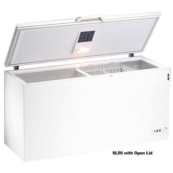 Blizzard SL50 Stainless Steel Lid Chest Freezer