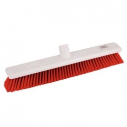 "Jantex DN833 18"" Soft Hygiene Red Broom Head"