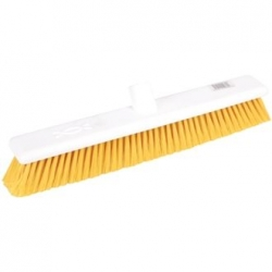"Jantex DN834 18"" Soft Hygiene Yellow Broom Head"