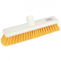 "Jantex DN831 12"" Soft Hygiene Yellow Broom Head"