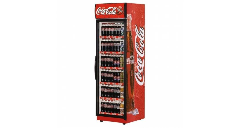 Super 76 Branded Coke Glass Door Display Chiller