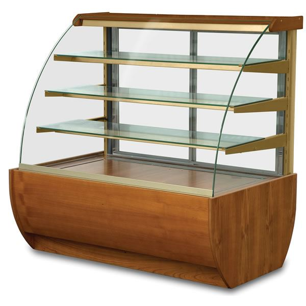 Igloo Jamaica JA60HW 0.6m Wood Finish Heated Display Cabinet